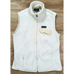 Patagonia Womens Re-Tool White Fleece Vest Large